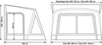 Tenda da sole per roulotte ELAN 280