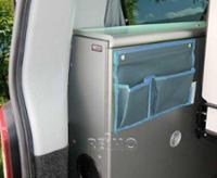 Bil arrangør med 2 lommer u. Snap lås, grå / blå. cirka B39xH25cm