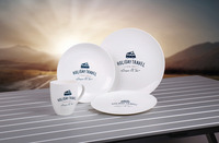 PLA Tableware, Set HOLIDAY TRAVEL, For 2 People/8 Parts