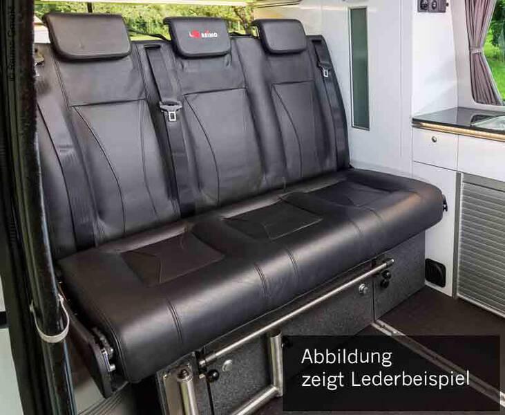 Schlafsitzbank VW T6 CityVan V3000 Gr.14 3-sitzig, Polster Leder 2 fbg. Rechts.