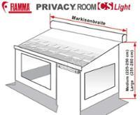 Fiamma Privacy Room CS Light für Caravan Store Markise mit Fast Clip System