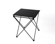 Alumiininen kääntyvä pöytä HUGO pussiin ja koukkuun 46x50x60cm, musta