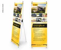X-Banner - Design: Reimo Campingboks M, engelsk, størrelse: 60x180cm