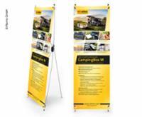 X-Banner - Design: Reimo Campingboks M, tysk, størrelse: 60x180cm