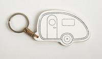 Schlüsselanhänger Caravan mit Reimo Logo
