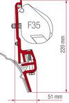 Adapter til Reimo Multirail T4 eller Brandrup