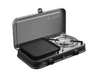 2-Cook 2 Pro Deluxe 2-Flamm-Kocher/Grill 30mbar, Piezo, 2 Grillplatten