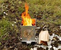 Fireplace 250, stainless steel 250 x 200 x 360 mm STOCKTAKE SALE