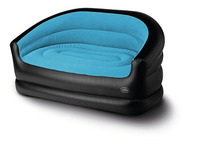 Sofá inflable RELAX DOBLE, 145x78x65cm, negro/azul hielo