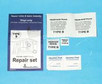 Reparationssæt til teltvæv og folie, type B: PVC