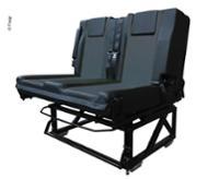 Sæde / sovesofa 530 110 / 190cm, hængslet, fastgjort til køretøjets gulv