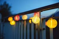 LED-Lichterkette inkl. Solarmodul + Akku
