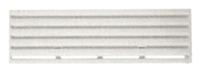 Winterabdeckung für Thetford-Lüftungsgitter f. Kühlschrank 13x43,5 cm weiß