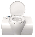 Bænk toilet C503-L elektrisk, hvid kontrol åbning til venstre