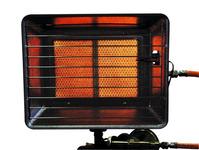 Gasvarmer 2.5-4.2kW (tændingssikring, 0,4m slange + 50mbar regulator)