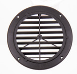 Ventilation grille, white, outside: 164mm, round