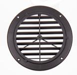 Lüftungsgitter, schwarz, Außen: 164mm, rund