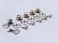 LOXX sikkerhedsknapper, sølv 5 stk.