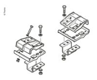 BWP standardrammesæt EM / CM Euro Mover II, rammehøjde mind.185mm