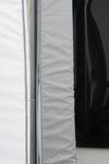 Drukstang & schuimrubberen kraal voor aansluiting op de caravan
