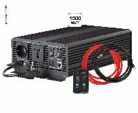 Sinbølgeomformer 12 / 230V 1500W, integreret oplader 15A