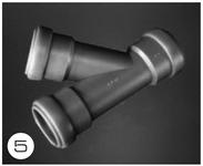 T-stykke til 28 mm kloaksystemer
