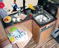 Køkkendel med sidebord, for TravelStyle VW T6/T5 kort + lang