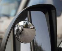 Vidvinkelspejl Ø 75mm forbedrer synligheden i det blinde punkt