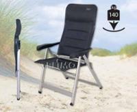 Campingsessel Farbe: Anthrazit mit Rücken und Sitzpolsterung