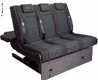 <p>Sleeping bench VW T6/5 V3100 size 10 rigid, 1205 mm wide, 3-seater, upholstered</p> - V3000 Bench 10 T5/6 rigid