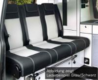 Schlafsitzbank Renault Trafic,Opel Vivaro,Fiat Talento,V3000 Gr.17 Leder 2-fbg.