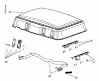 Midi-Heki Ersatzglas kompl.mit Anbauteilen Bügelversion