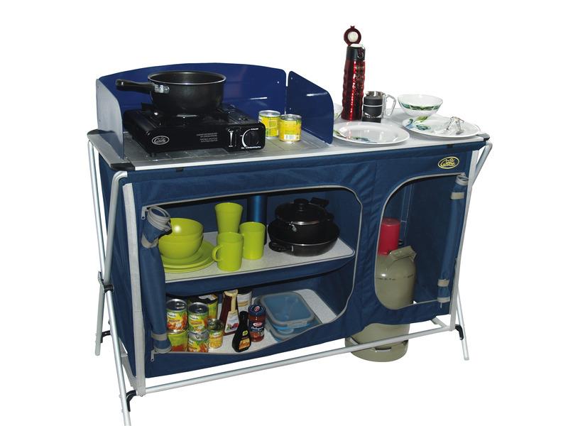 Campingküche Cuccina Quick mit Spülbecken blau