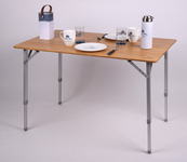 Bamboe tafel HOLIDAY TRAVEL, aluminium frame, 100x65x42/65cm
