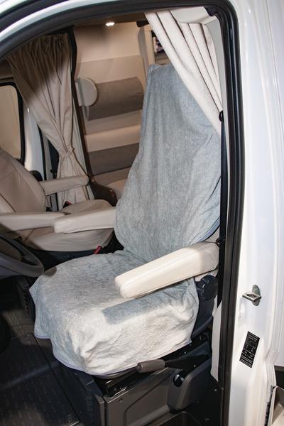 Frottee-Schonbezug für Fahrzeugsitz universal hellgrau