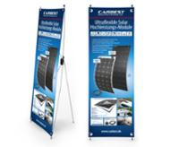 Carbest X-Banner - design: solpanel, tysk, størrelse: 60x180cm