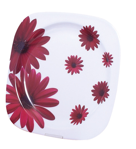 Melamine plate set (Ø 22,5cm) Red Flower, 2 pieces