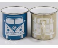 VW Collection Emaille-Tassen blau+grau 2er Set