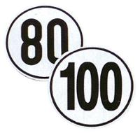 Klistermærke Tempo 100