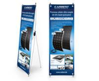 Carbest X-Banner - design: solpanel, fransk, størrelse: 60x180cm