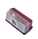 Clearance lampe med base rød / hvid 92 x 43 x 37 mm