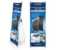 Carbest X-Banner - design: solpanel, engelsk, størrelse: 60x180cm