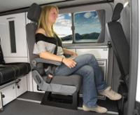 Euroseat A400, single seat w/ three-point seat belt, TÜV approved, buckle right