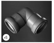 Abwasserrohrsystem 28 mm mit Gummidichtung