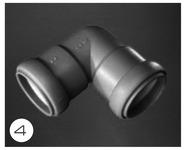 Afløbssystem 28 mm med gummitætning