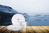 Melamin porcelæn sæt Camp4 'HARBOUR' 8 dele, til 2 personer