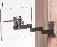 Caratec Flex CFW400AS tv-vægbeslag, 4 drejepunkter, sort
