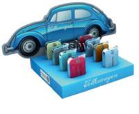 VW Collection Feuerzeuge, Display, VW Käfer Front, 8 Stück in 4 Farben