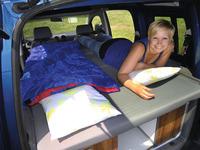 VW Caddy KR Active slatted frame bed with foam and removable covers
