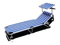 Sunlounger Sun Comfort III Længde: 198cm Farve: hvid blå
